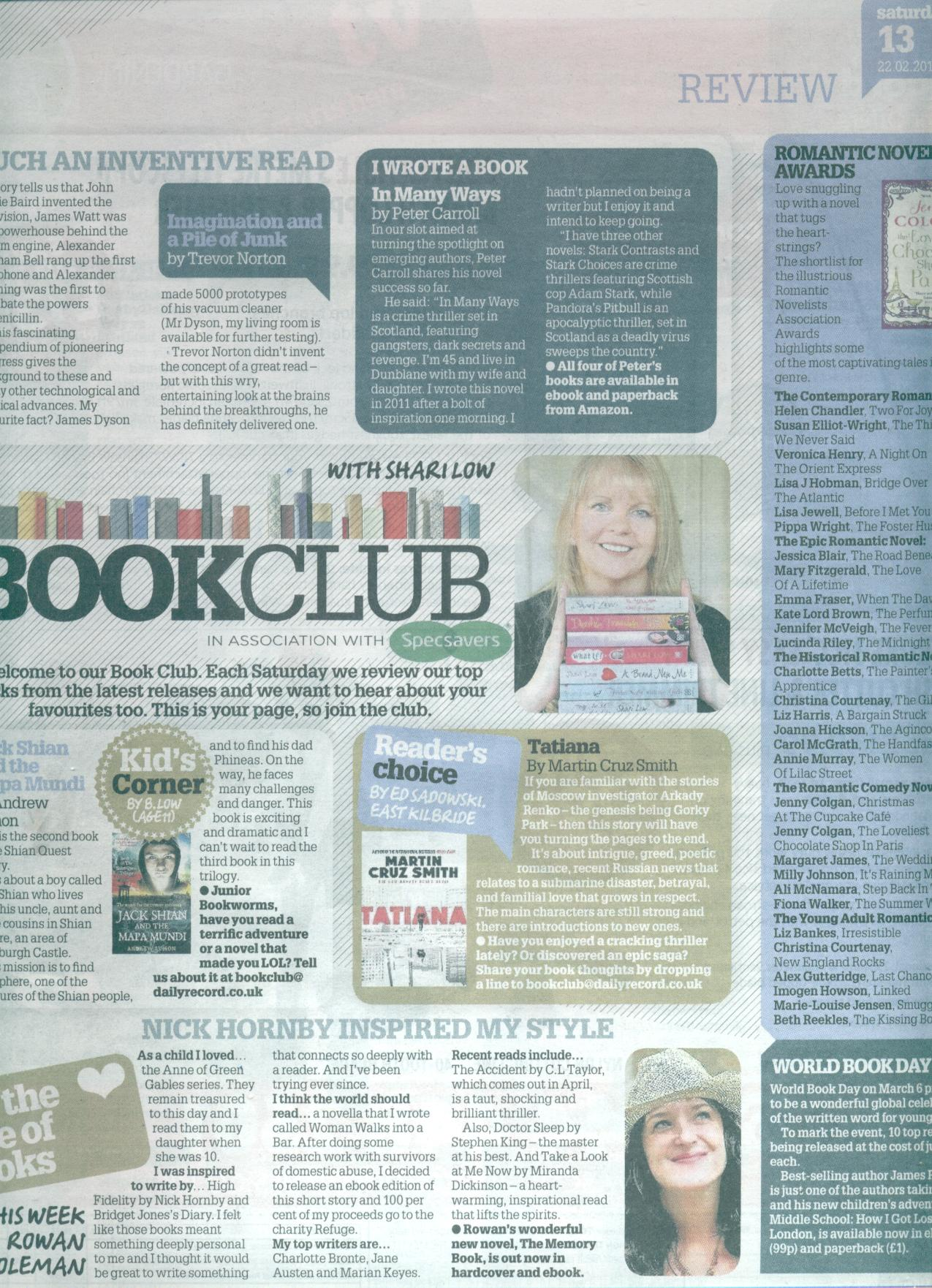 Daily Record Book Club 22-02-14