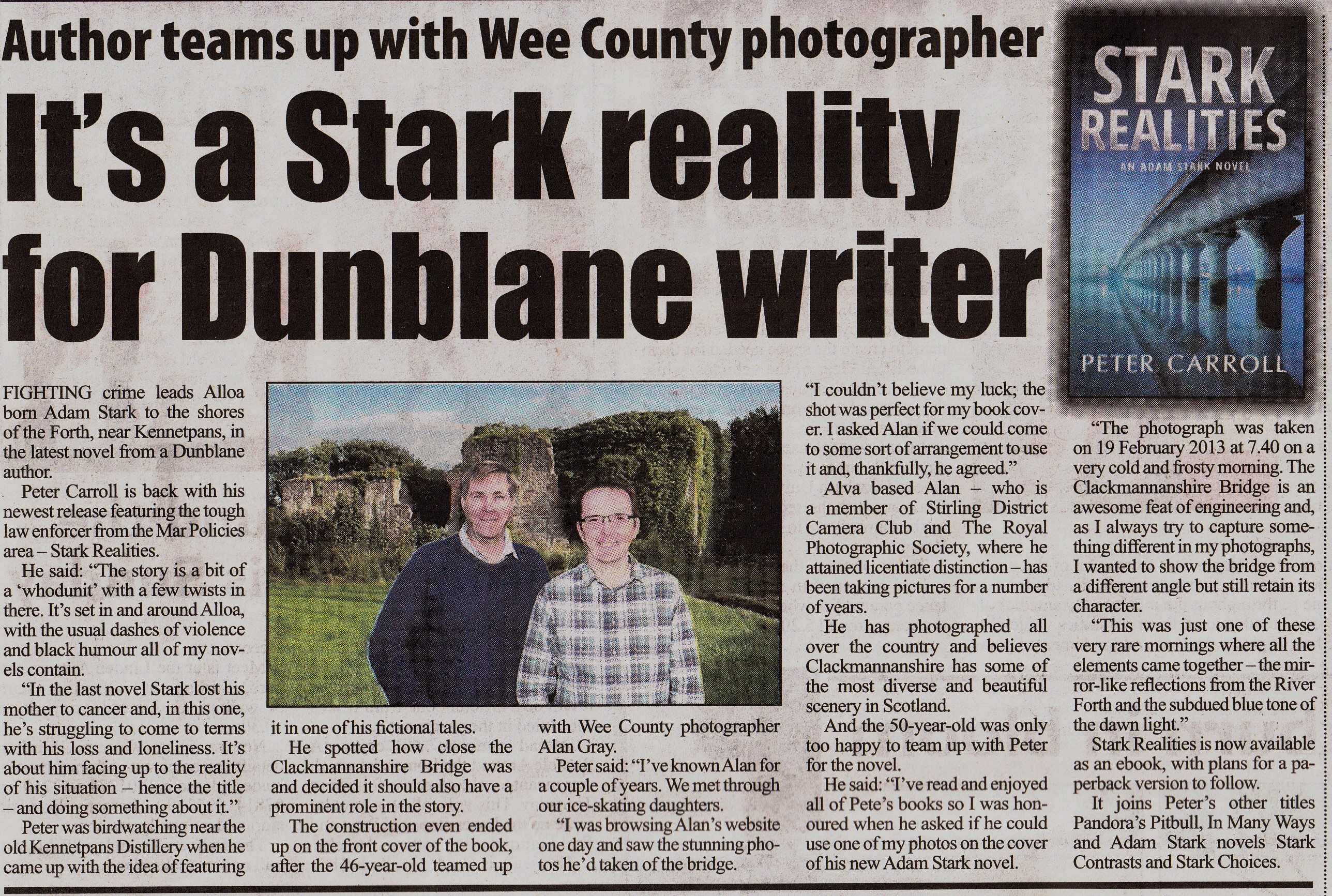 Stirling News Article August 2015